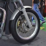 Royal Enfield Continental GT front disc at the Nepal Auto Show 2017
