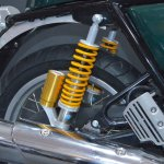 Royal Enfield Continental GT rear shock at the Nepal Auto Show 2017