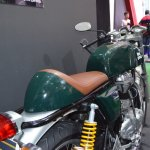Royal Enfield Continental GT saddle and rear at the Nepal Auto Show 2017
