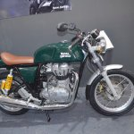 Royal Enfield Continental GT side view at the Nepal Auto Show 2017