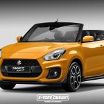 Suzuki Swift Sport Cabriolet rendering
