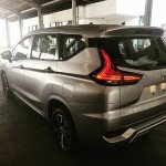 Mitsubishi Xpander rear three quarters spy shot