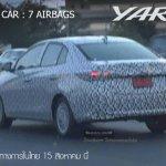 Toyota Yaris ATIV rear three quarters spy shot
