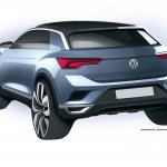 VW T-ROC rear angle production model