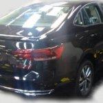 VW Virtus rear three quarters undisguised spy shot