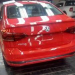 VW Virtus red spy shot Brazil