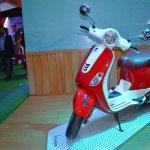Vespa VXL 150 at Nepal Auto show front left quarter