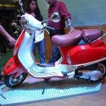 Vespa VXL 150 at Nepal Auto show left side