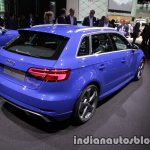2017 Audi RS 3 Sportback rear three quarter at the IAA 2017