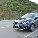 2017 Maruti S-Cross facelift front three quarters action