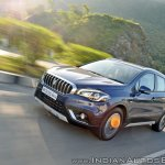 2017 Maruti S-Cross facelift left front three quarters angle action