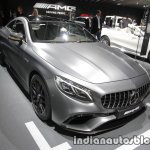 2017 Mercedes-AMG S 63 Coupe (facelift) front three quarters at the IAA 2017
