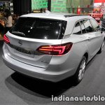 2017 Opel Astra Sports Tourer CNG rear three quarters left side at the IAA 2017