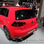 2017 VW Golf GTI Performance rear three quarters at the IAA 2017