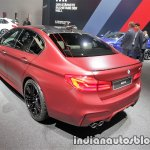 2018 BMW M5 First Edition rear three quarters left side at the IAA 2017 - Live