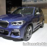 2018 BMW X3 front three quarter view at IAA 2017