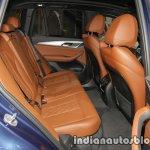 2018 BMW X3 rear seat at IAA 2017