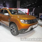2018 Dacia Duster front three quarters left at IAA 2017