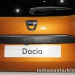 2018 Dacia Duster rear badge registration plate at IAA 2017