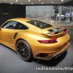 2018 Porsche 911 Turbo S Exclusive Series rear three quarter at the IAA 2017