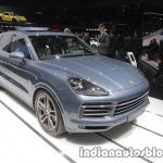 2018 Porsche Cayenne front three quarters at IAA 2017