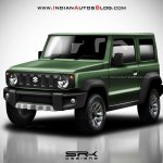 2018 Suzuki Jimny Rendering front three quarters green colour