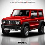 2018 Suzuki Jimny Rendering front three quarters red