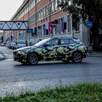 Camouflaged BMW X2 wheel snapped Milano Fashion Show