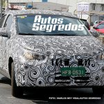 Fiato X6S (FIat Argo-based sedan) front three quarters spy shot