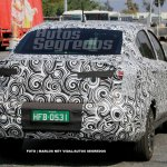 Fiato X6S (FIat Argo-based sedan) rear three quarters spy shot