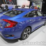 Honda Civic sedan rear three quarters at IAA 2017