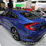 Honda Civic sedan rear three quarters left at IAA 2017