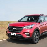 Hyundai Creta Sport front three quarters left side in motion