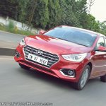 Hyundai Verna 2017 test drive review front action shot