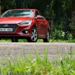 Hyundai Verna 2017 test drive review front three quarters low