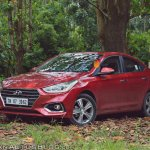 Hyundai Verna 2017 test drive review front three quarters