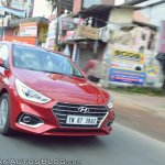 Hyundai Verna 2017 test drive review front tracking shot