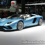 Lamborghini Aventador S Roadster front three quarters at the IAA 2017