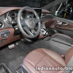 Mercedes V-Class Exclusive Edition interior dashboard at the IAA 2017