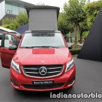 Mercedes V-Class Marco Polo HORIZON in designo hyacinth red metallic front at the IAA 2017
