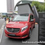 Mercedes V-Class Marco Polo HORIZON in designo hyacinth red metallic front three quarters at the IAA 2017
