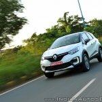 Renault Captur test drive review action shot front three quarters