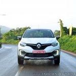Renault Captur test drive review action shot front