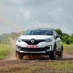 Renault Captur test drive review action shot water splash