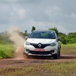 Renault Captur test drive review action shot water