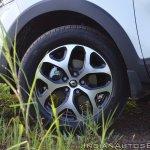 Renault Captur test drive review alloy wheel front