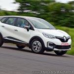 Renault Captur test drive review cornering shot