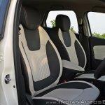 Renault Captur test drive review front seats