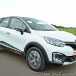 Renault Captur test drive review front three quarters action shot