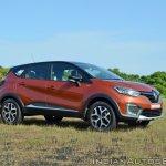 Renault Captur test drive review front three quarters